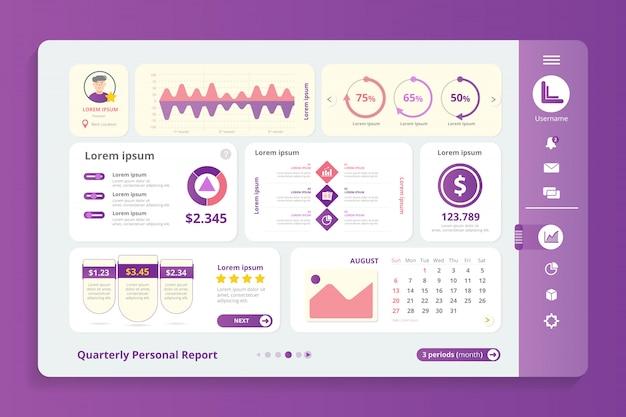 Modelo de infográfico de relatório trimestral