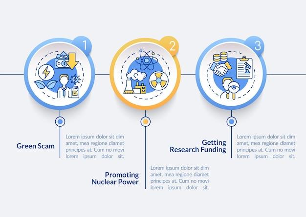 Modelo de infográfico de vetor de teoria da conspiração