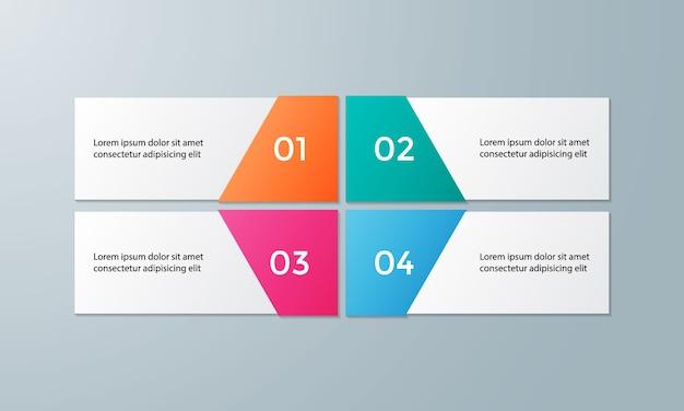 Modelo de infográfico de vetor para diagrama