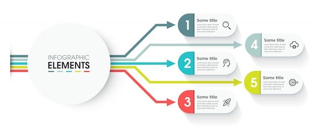 Modelo de infográfico de vetor