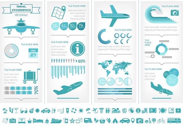 Modelo de infográfico de viagens.
