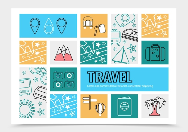 Modelo de infográfico de viagens