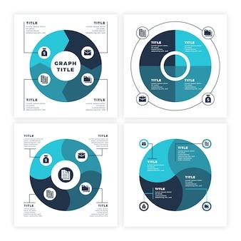 Modelo de infográfico do ciclo de vida do projeto