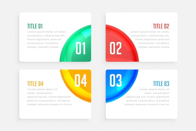 Modelo de infográfico elegante de quatro etapas