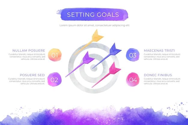Modelo de infográfico gradiente colorido