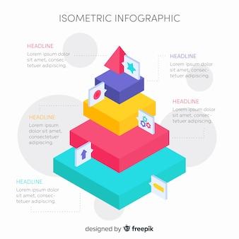 Modelo de infográfico isométrica