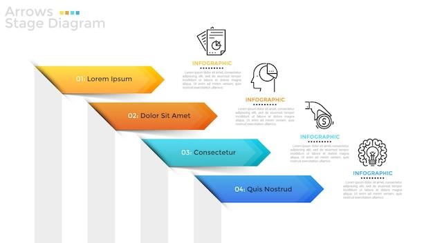 Modelo de infográfico moderno