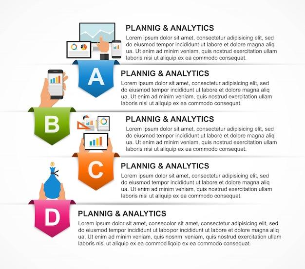 Modelo de infográfico para apresentações de negócios.