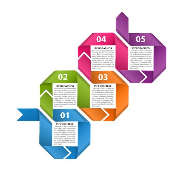 Modelo de infográfico para banner de informações