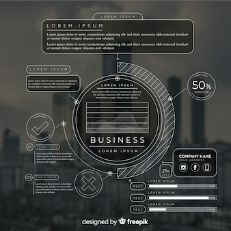 Modelo de infográfico para negócios com foto