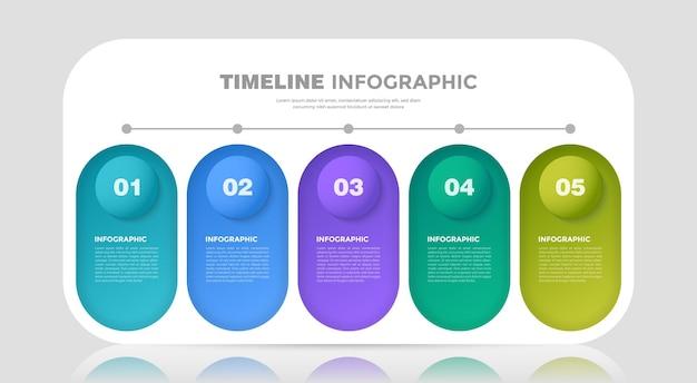 Modelo de infográfico para tablet de negócios