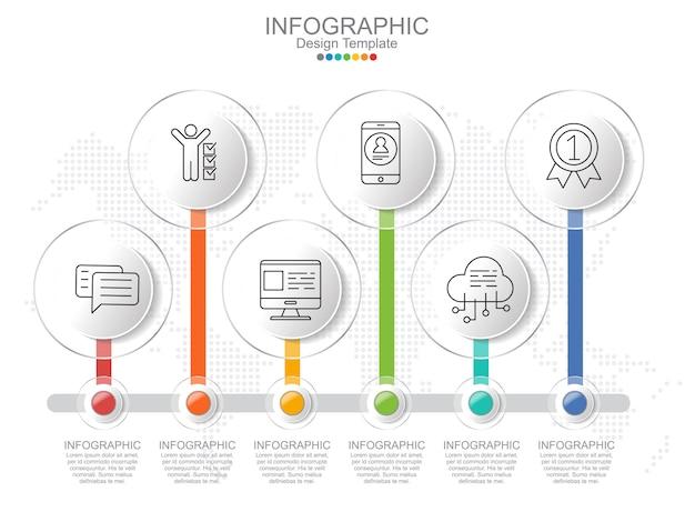 Modelo de infográfico timeliane com layout de quadro e texto.