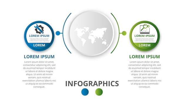 Modelo de infográficos circulares