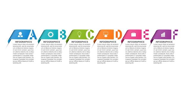 Modelo de infográficos com opção de números para apresentações de negócios