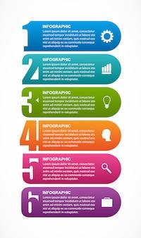 Modelo de infográficos com opção