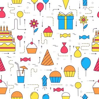 Modelo de infográficos de círculo de feliz aniversário.