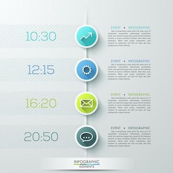 Modelo de infográficos de círculo empresarial moderno