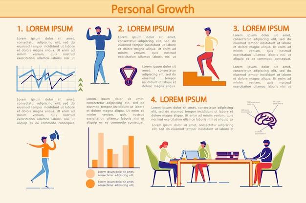 Modelo de infográficos de crescimento pessoal
