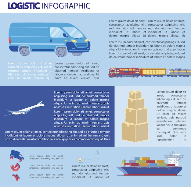 Modelo de infográficos de logística