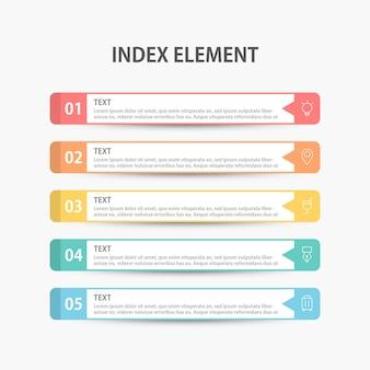 Modelo de infográficos de negócios de apresentação. ilustração.