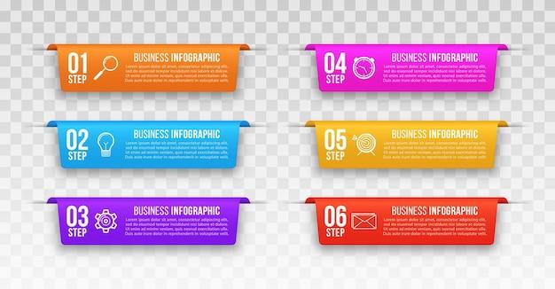 Modelo de infográficos de negócios infográfico