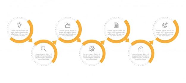 Modelo de infográficos de negócios mínimo. linha do tempo com 2 etapas, opções e ícones de marketing