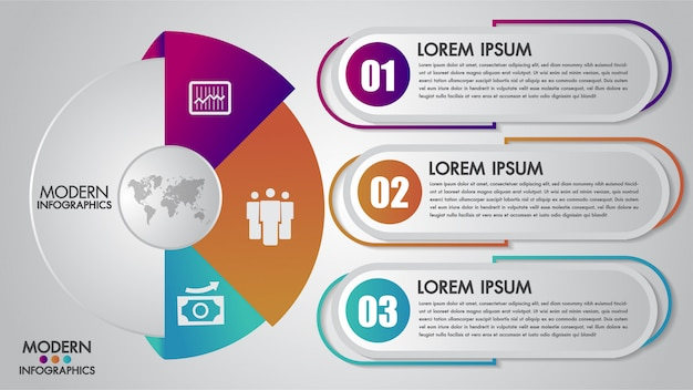 Modelo de infográficos de negócios para diagrama