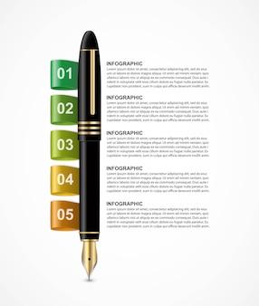 Modelo de infográficos de negócios.