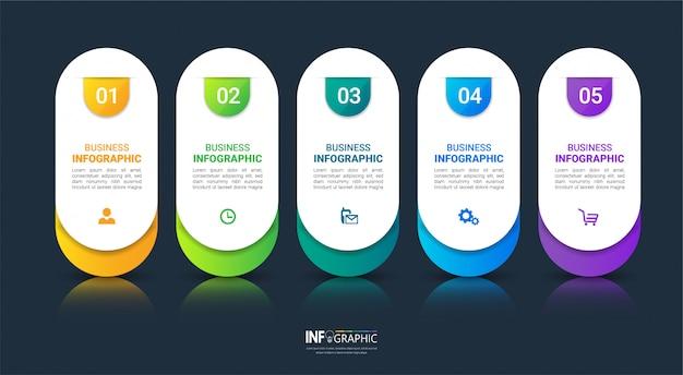 Modelo de infográficos de negócios