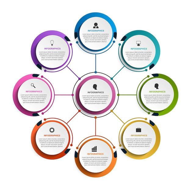 Modelo de infográficos de opções abstratas infográficos