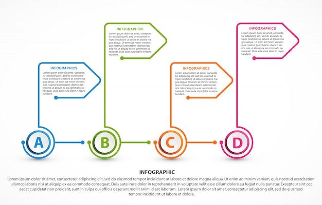 Modelo de infográficos de opções abstratas.