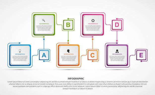 Modelo de infográficos de opções de negócios