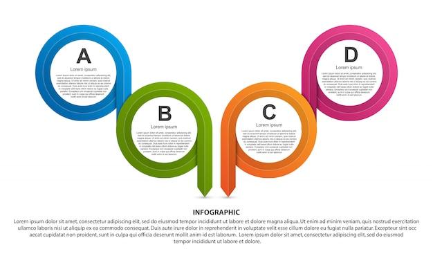 Modelo de infográficos de opções.