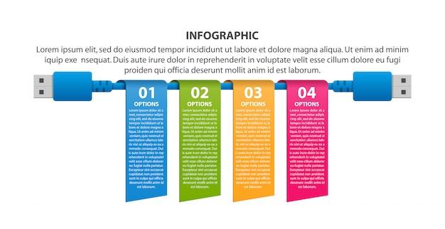 Modelo de infográficos de tecnologia