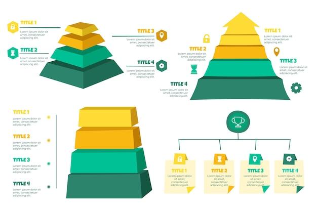 Modelo de infográficos hierárquicos