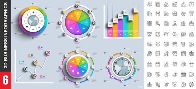 Modelo de infográficos modernos