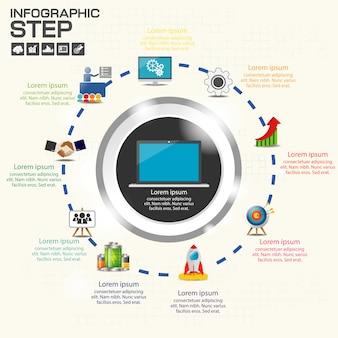 Modelo de infográficos para negócios