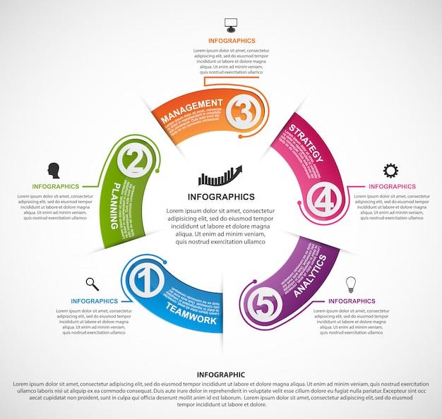 Modelo de infográficos para negócios.