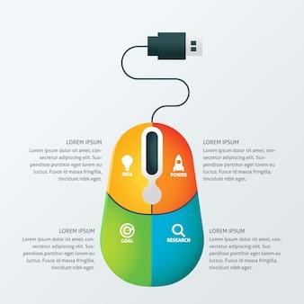Modelo de infographic do negócio de conceito criativo