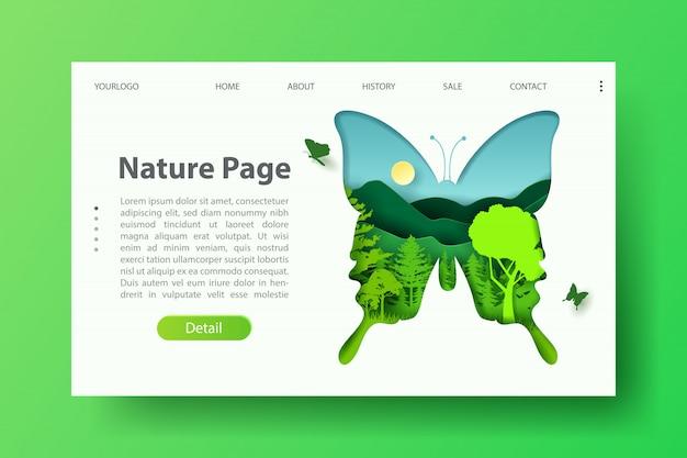 Modelo de informação do dia da terra e meio ambiente para poluição e natureza webdesign.