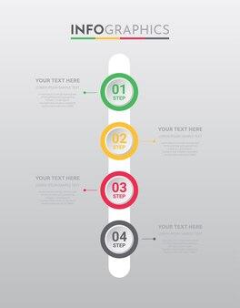 Modelo de informação-gráfico para negócios com design de passos.