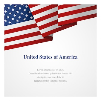 Modelo de insígnia de estados unidos da américa