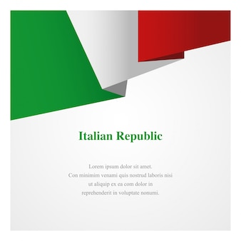 Modelo de insígnia de itália