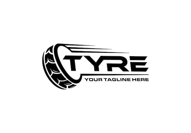 Modelo de inspiração de design de logotipo de pneu
