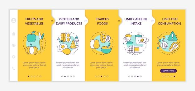 Modelo de integração de dieta de amamentação saudável