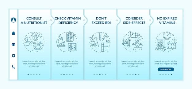 Modelo de integração de ingestão diária recomendada de vitaminas
