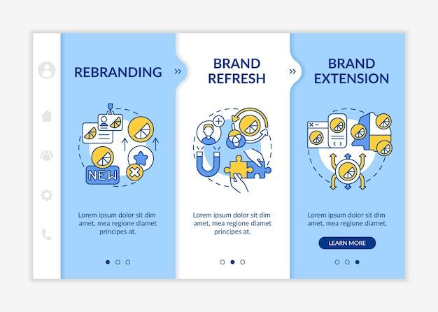 Modelo de integração de mudança de identidade de marca