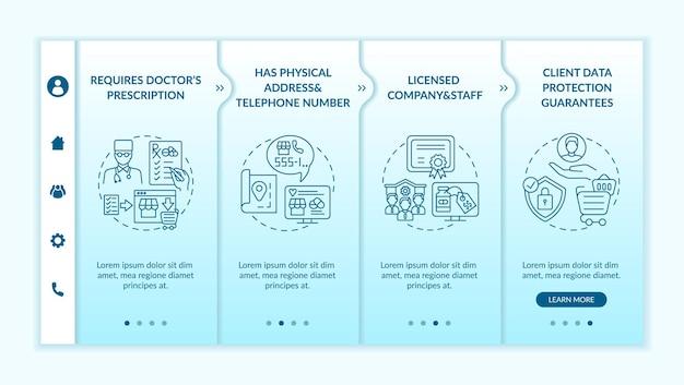 Modelo de integração de sinais de farmácia online segura