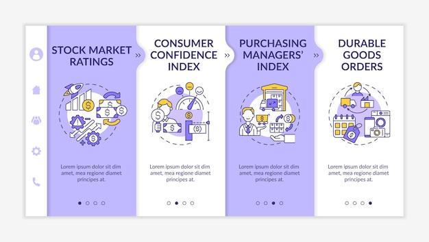 Modelo de integração do índice de confiança do consumidor Vetor Premium