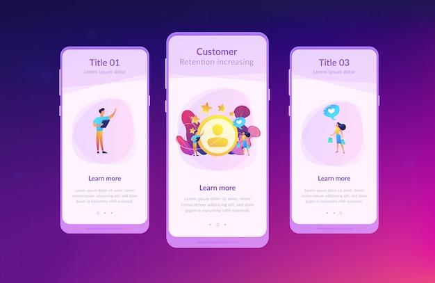 Modelo de interface de aplicativo de análise de satisfação e lealdade